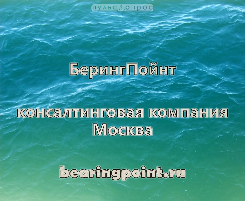 БерингПойнт-консалтинговая компания